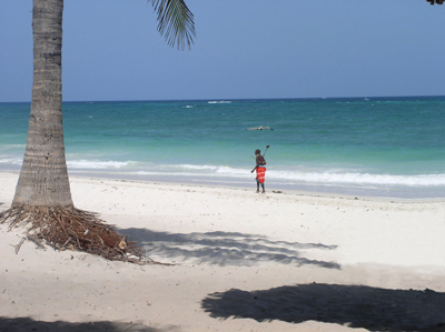 Mombasa Beach With Powder-soft White Sands
